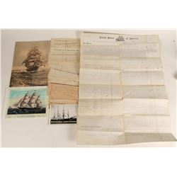 Young America Clipper Ship Ephemera  (124616)