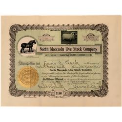 North Moccasin Live Stock Company Stock With great vignettes  (123322)