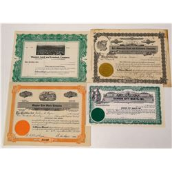 Nevada Livestock Stock Certificates  (124562)