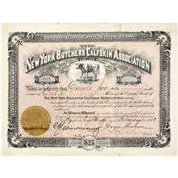 New York Butchers Calfskin Association Stock  (123244)