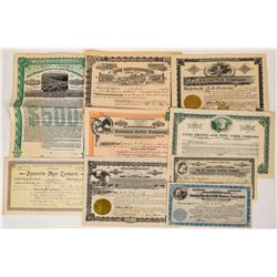 Western Livestock Packing Company Certificates (9)  (124560)