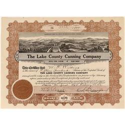 Lake County Canning Company Stock  (123438)