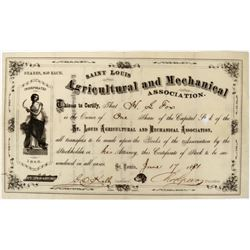 Saint Louis Agricultural and Mechanical Association Stock  (123277)
