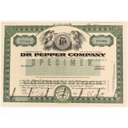 Dr. Pepper Company Specimen Stock  (123421)
