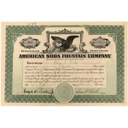 American Soda Fountain Company Stock  (123376)