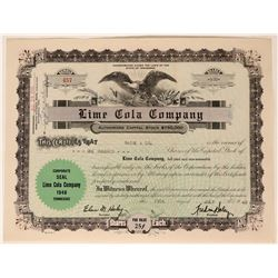 Lime Cola Company Stock - starring Bob Hope and Bing Crosby  (123445)