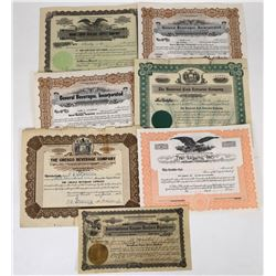 Liquor Dealer Stock Certificates (7)  (119378)