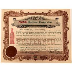 Nice, bright Coca-Cola Bottling Corporation Stock Certificate  (123337)