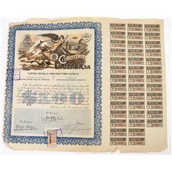 Cerveceria Orizaba Stock Certificate  (124309)