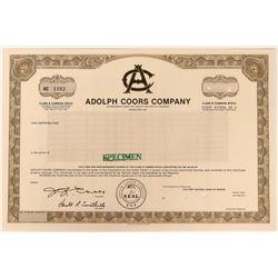 Adolph Coors Specimen Stock  (123384)