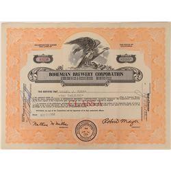 Bohemian Brewery Corporation Stock  (123364)