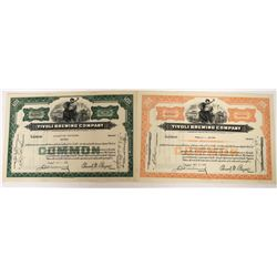 Tivoli Brewing Company Stocks - Green and Orange  (123246)