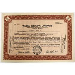 Weibel Brewing Company Stock  (123266)