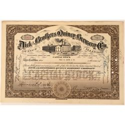 Dick and Brothers Quincy Brewing Company Stock   (123336)