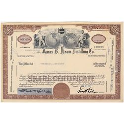 Jim Beam Distillery Stock Certificate  (124582)