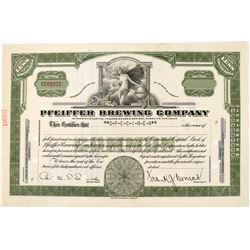 Pfeiffer Brewing Company Specimen Stock with Nude Female  (123296)