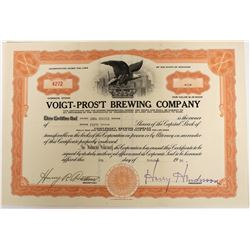 Voigt-Pros't Brewing Company Stock  (123268)