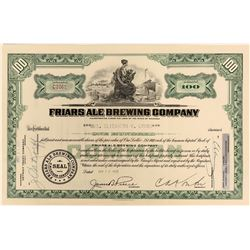 Friars Ale Brewing Company Stock - in business for only six years  (123424)