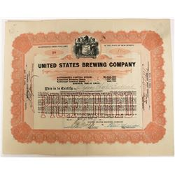 United States Brewing Company Stock  (123254)