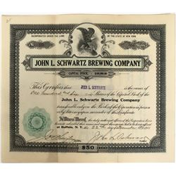 John L. Schwartz Brewing Company Stock, a victim of Prohibition  (123290)