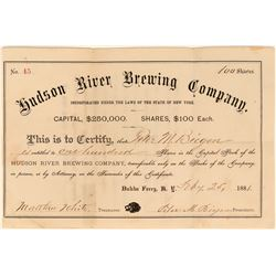 Hudson River Brewing Company Stock (Anchor Beer)  (123439)