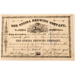 Earlier Oneida Brewing Company Stock  (123318)