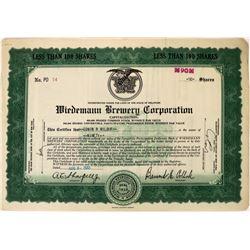 Wiedemann Brewery Corporation Stock   (123264)