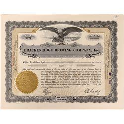 Brackenbridge Brewing Company Stock  (123360)
