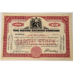 The Victor Brewing Company Stock Certificate  (124577)