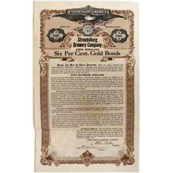 Stroudsburg Brewery Company Gold Bonds - Prohibition Era Brewery Bonds  (123274)