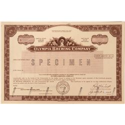 Olympia Brewing Company Specimen Stock  (123319)