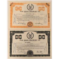 Fox Head Brewing Company Stocks (2)  (123426)