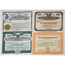 Great Lakes Brewery Stock Certificates (4)  (119373)