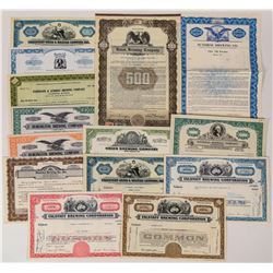 Brewery Stock Certificate Collection  (124589)