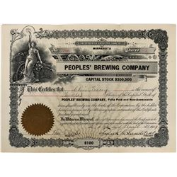 Peoples' Brewing Company Stock  (123293)