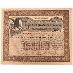 Cape Fish Products Company Stock  (123353)