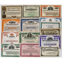 Food Stores / Grocery Market Stock Certificate Group (14)  (113717)