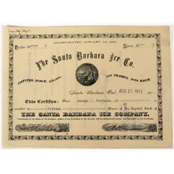 Santa Barbara Ice Company Stock  (123301)