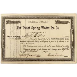 Picket Spring Water Ice Company Stock  (123298)