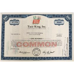 Taco King Inc. Stock with colorful vignette  (123248)