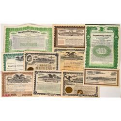 Canning Company Stock Certificates  (124565)