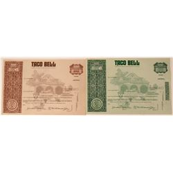 Taco Bell Stock Certificates  (123310)