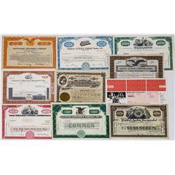Ten Different Restaurant Stock Certificates  (113732)