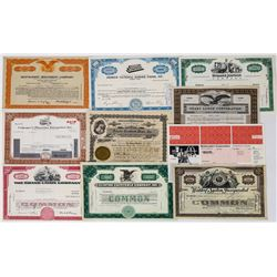 Ten Different Restaurant Stock Certificates  (113732)