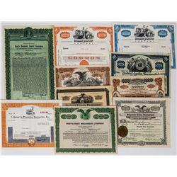 Ten Different Restaurant Stock Certificates  (113734)