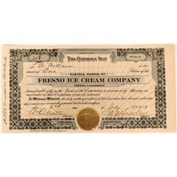 Fresno Ice Cream Company Stock  (123425)