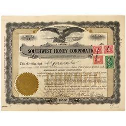 Southwest Honey Corporation Stock  (123272)
