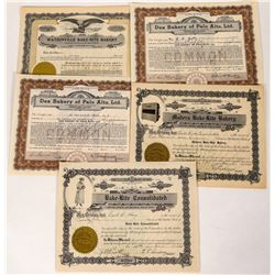 California Bakery Stock Certificates  (124556)