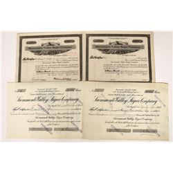 Sacramento Valley Sugar Association Stocks including CERTIFICATE #1  (123279)