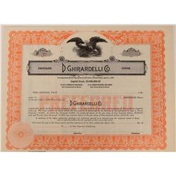 D. Ghiardelli Company Stock  (123404)